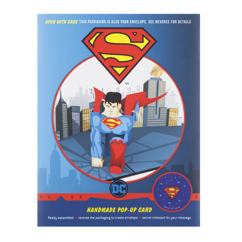Superman Pop Up Card Packaging
