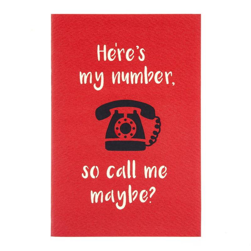 Cover image of red Valentine's Day Telephone Pop Up Card which reads
