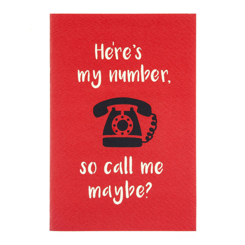 """Call Me Maybe"" Telephone Pop Up Card"