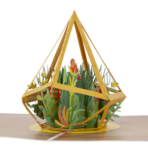 Terrarium Pop Up Card - Close Up Image