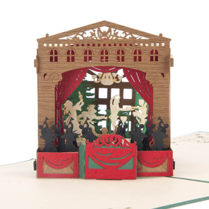 The Nutcracker Theatre Pop Up Card
