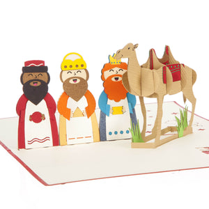 Close up image of Three Kings Christmas Pop Up Card