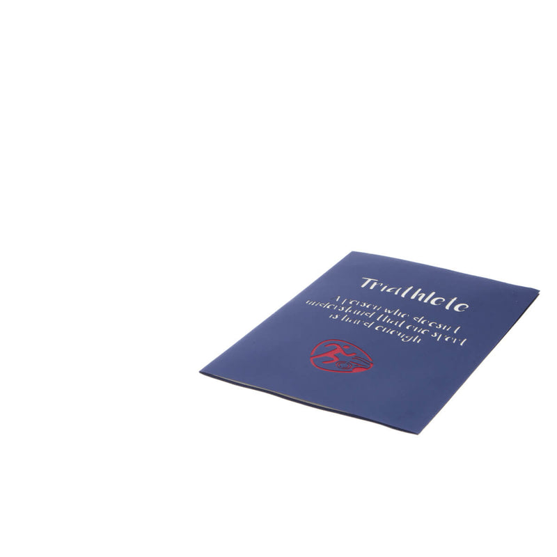 Triathlete Pop Up Card