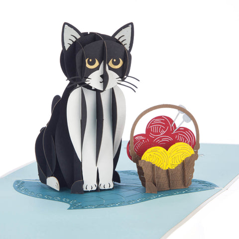 Tuxedo Cat Pop Up Card