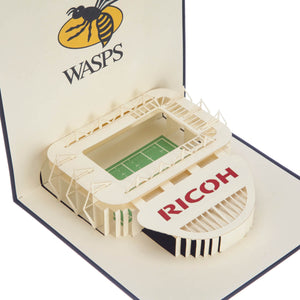 Wasps Rugby Ricoh Arena Birthday Card close up image