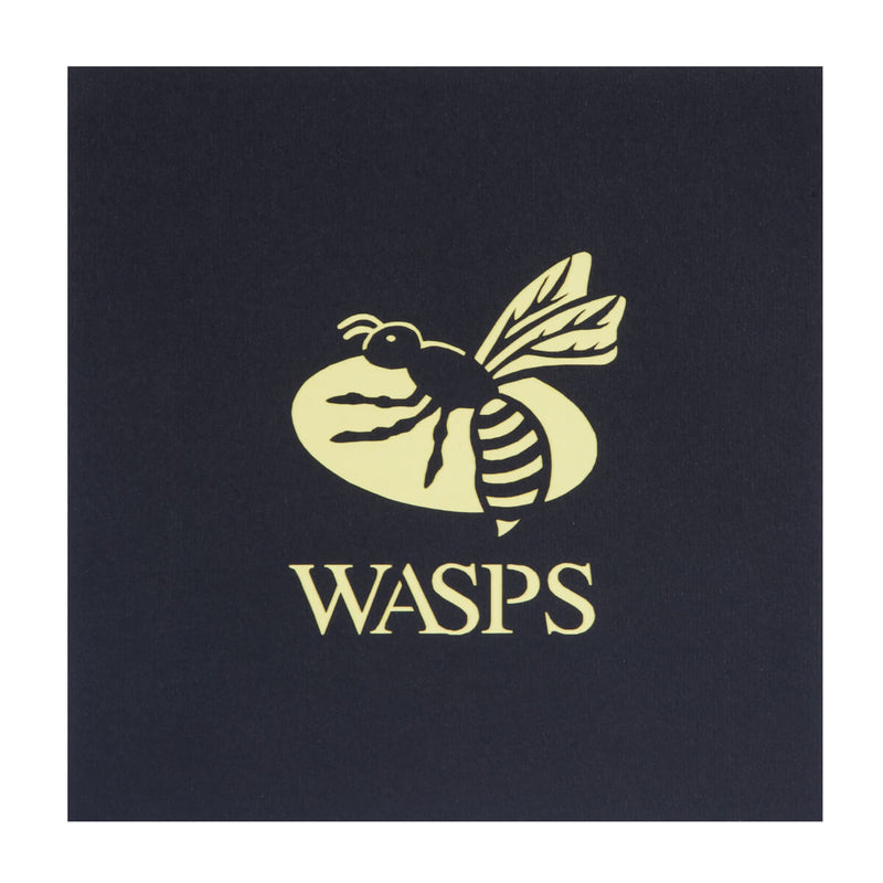 Wasps Rugby Ricoh Arena Birthday Card black cover with yellow wasps logo