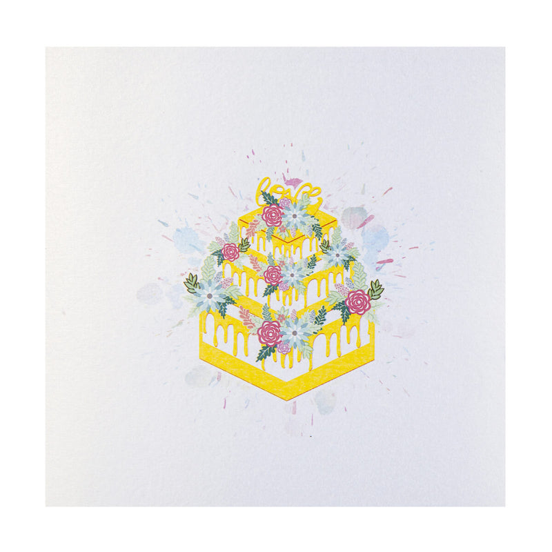 Wedding Cake Pop Up Card Cover Image