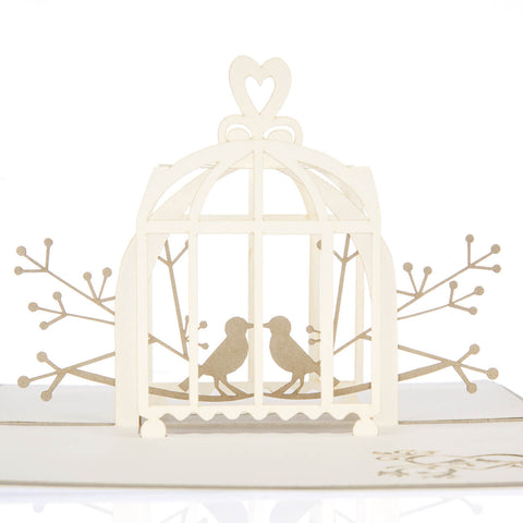 Wedding Lovebirds Pop Up Card