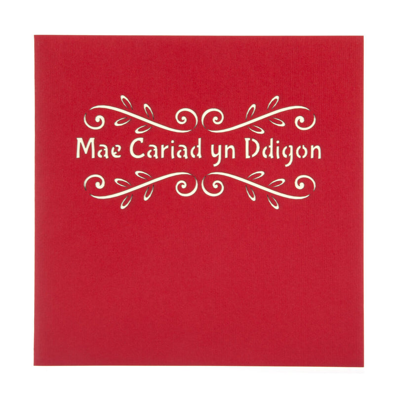 WELSH Cariad Pop Up Card