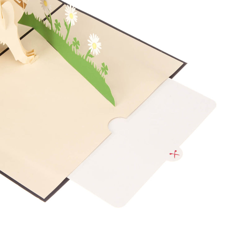image of white labrador pop up card note card