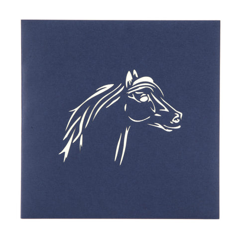 Horses Pop Up Card