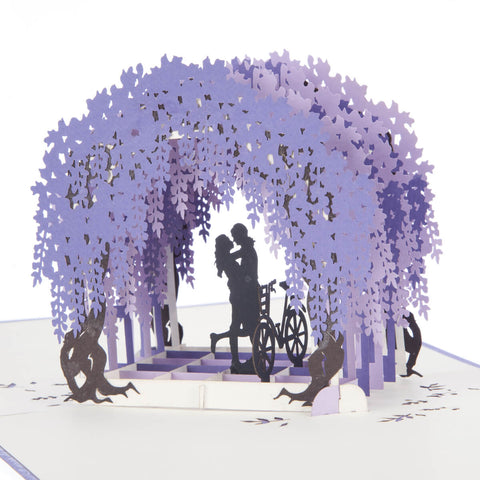 Wisteria Pop Up Card