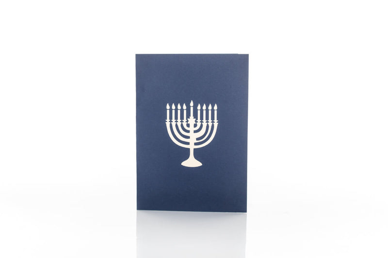 hanukkah pop up card cover