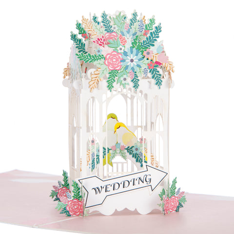 Wedding Birdcage Pop Up Card