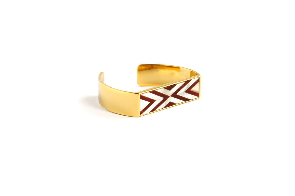 Sabrina Cuff Double Chevron