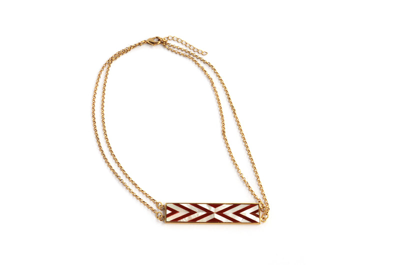 Valyn Necklace Double Chevron