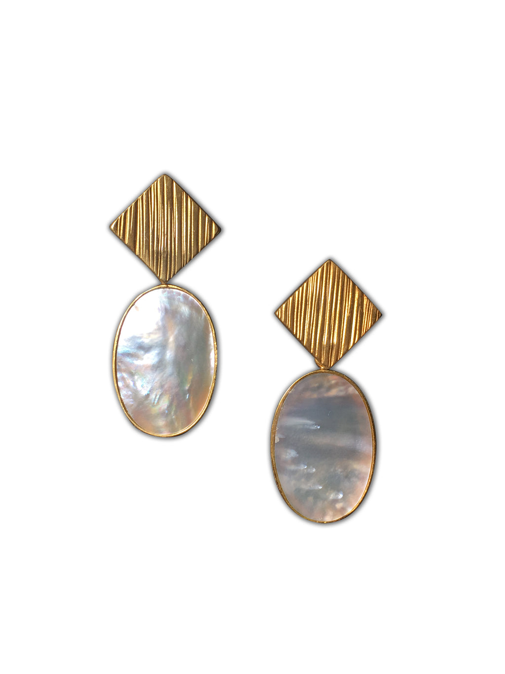 Ridge Oval Earrings