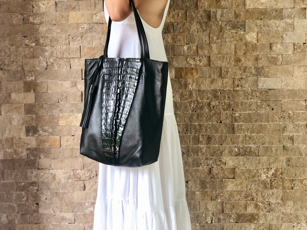 MK Black Tote (Medium)