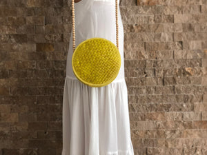 Summer Round Shoulder Bag Yellow