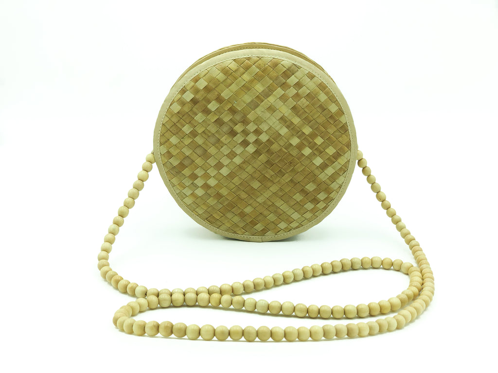 Summer Round Shoulder Bag Natural