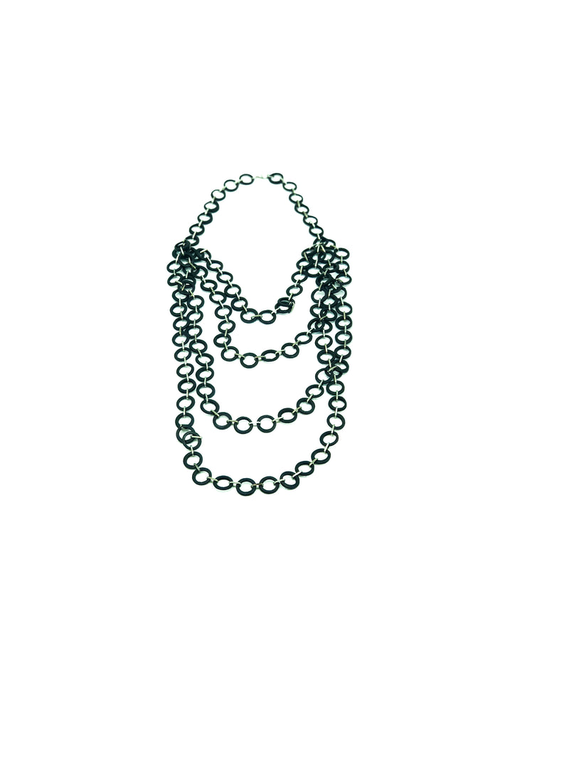 Mesh 4 layer necklace