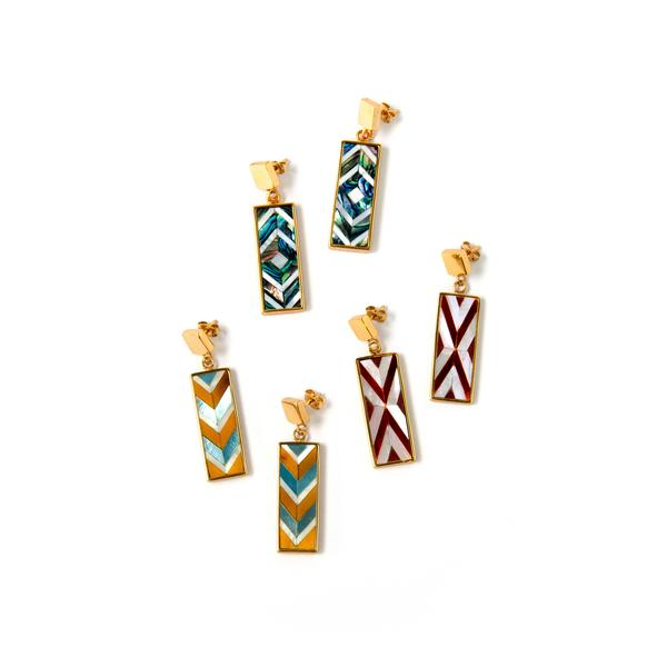 Sofia Earrings Mini Double Chevron