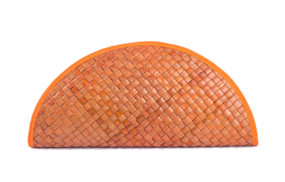 Summer Half-Moon Clutch Orange