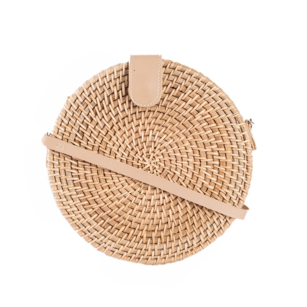 Alicia Rattan Shoulder Bag Natural