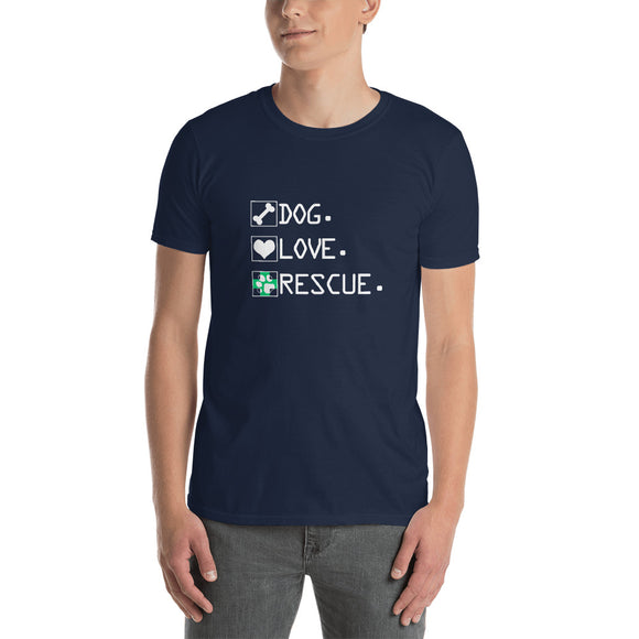 Rescue- Dog.Love.Rescue T-Shirt