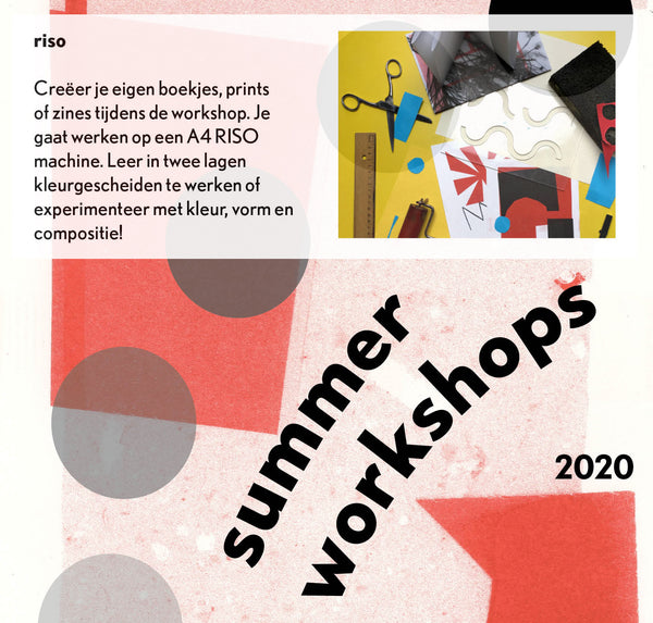 14 AUGUST 2020 | RISO WORKSHOP | 14.30 - 17.00