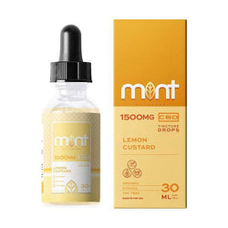 Lemon Custard CBD Tincture Drops - Mint Wellness