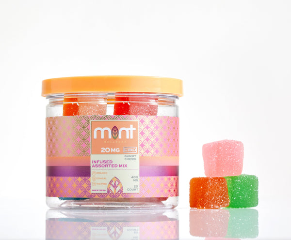 CBD Gummy Chews - Infused Assorted Mix - Mint Wellness