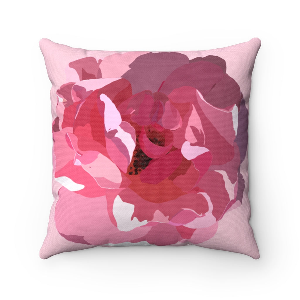 Square Pillow Rose