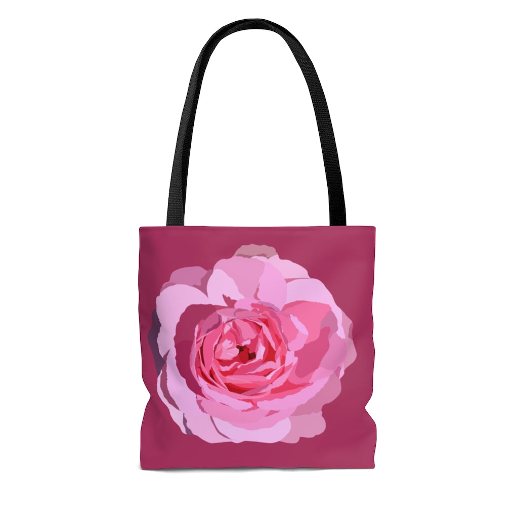 Tote Bag Pink Rose