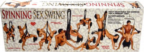 Wild Spinning Sex Swing (Leopard Print)