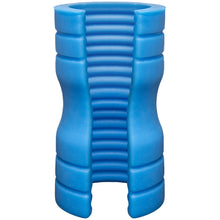 Load image into Gallery viewer, TRUSKYN Silicone Stroker Ribbed (Blue)