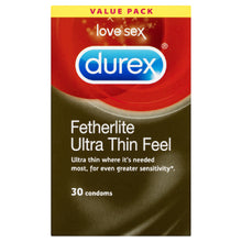 Load image into Gallery viewer, Featherlite Ultra Thin Feel Condoms 30 Pack