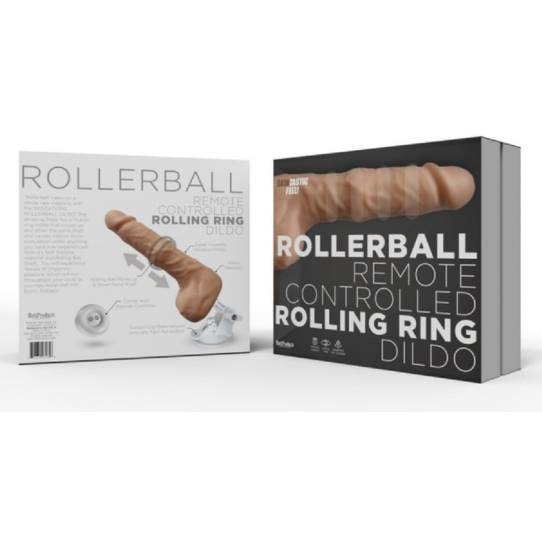 Rollerball Remote Controlled Rolling Dildo (Flesh)