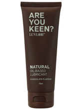 Load image into Gallery viewer, Luvloob Are You Keen Oil-Based 75ml Lubricant Chocolate