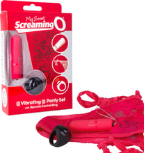 Load image into Gallery viewer, Vibrating Panty Set (Red)