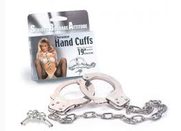 Chrome Hand Cuffs- With 19