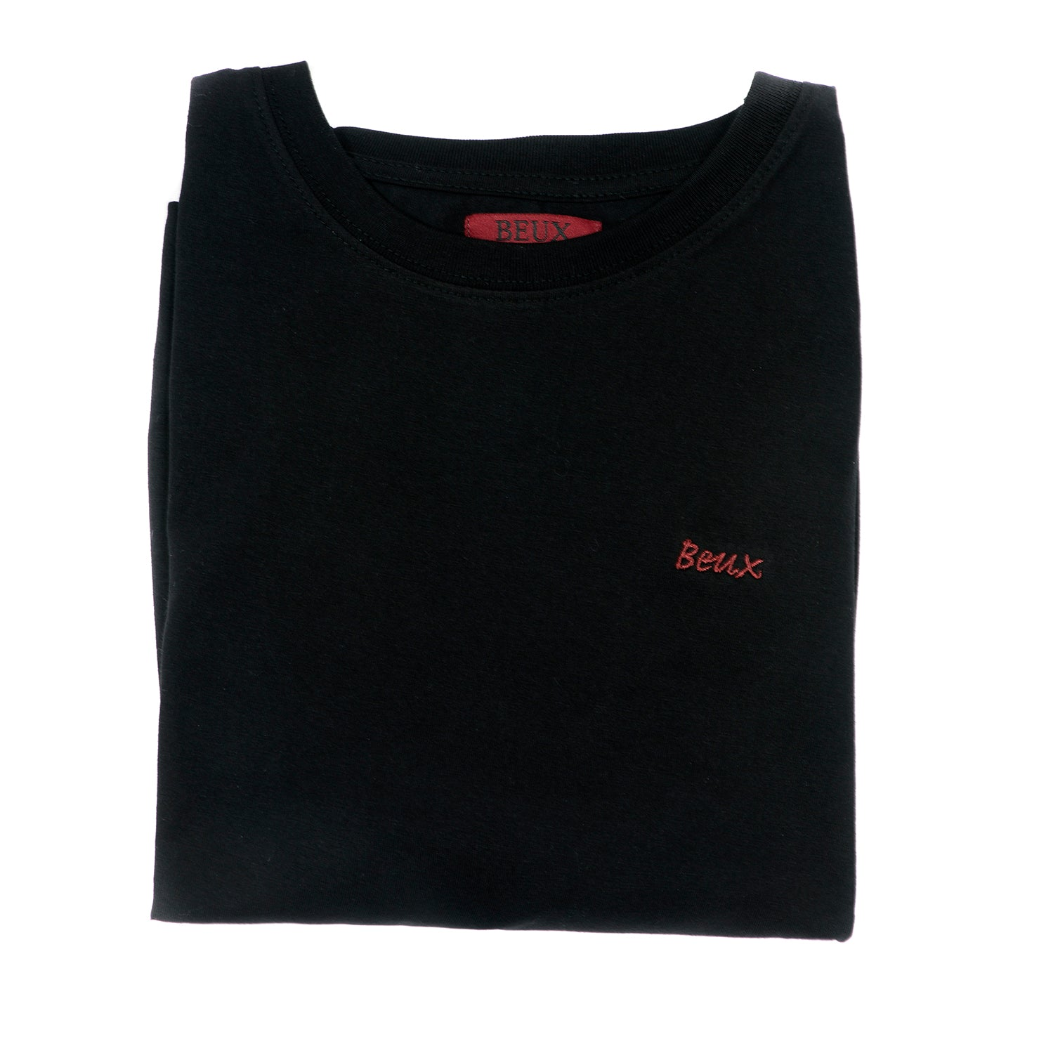 Folded black t-shirt