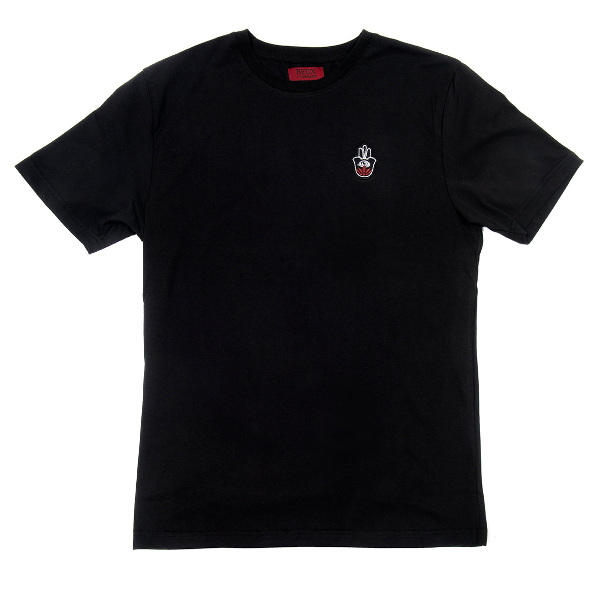Black T-shirt with embroidered logo