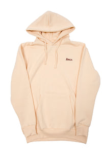 "CREAM HOODIE ""SCRIPT"" - COTTON - MODEL"