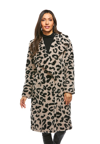 NOW-TRENDING SHERPA COAT LEOPARD