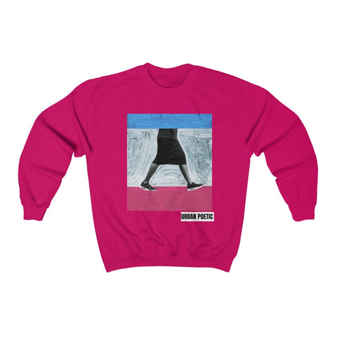 Walking Unisex Heavy Blend™ Crewneck Sweatshirt