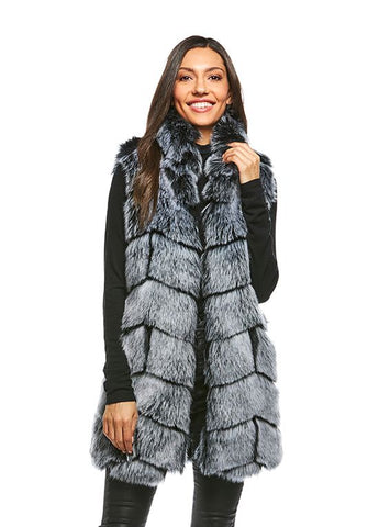 CHEVRON FOX VEST FROSTED GREY