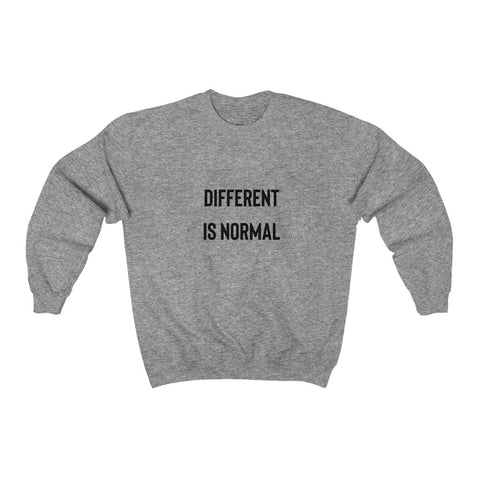 Normal is different  Unisex Heavy Blend™ Crewneck Sweatshirt