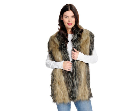 FAUX FUR PULL-THROUGH SCARF PIECED FOX
