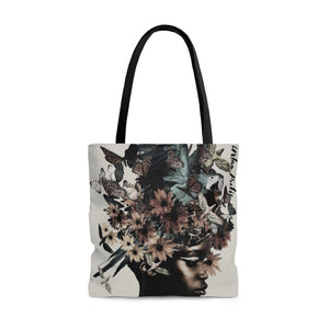 Faces Double Sided Tote Bag
